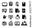 Books icons set Elegant series - stock photo