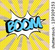 boom icon over yellow background vector illustration - stock