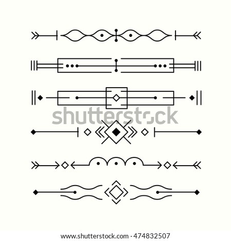 Border Collection Made In Clean And Modern Vector Line Style. Easy To Use  And Edit