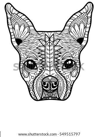 Dog Day Of The Dead Coloring Page
