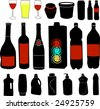 bottle collection - vector - stock vector