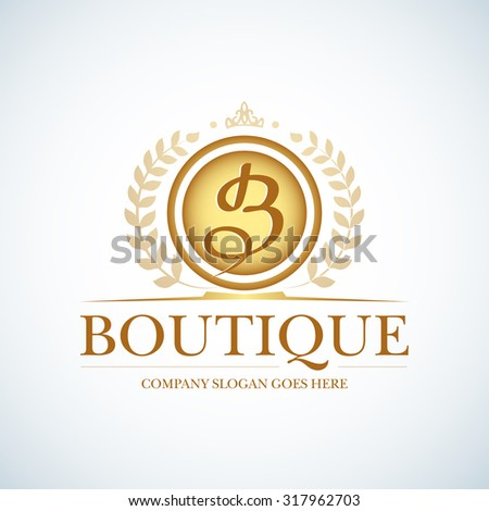 Boutique luxury vintage crests logo templates stock vector for Boutique luxury