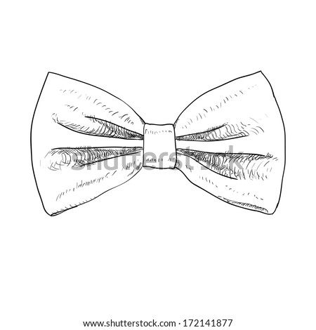 Cute Bow Tie Drawing bow tie doodle ...