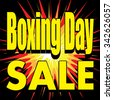 Boxing Day Sale Vector Explosion illustrated stickers, label or sale icon. Discount Price tags, sign or special offer symbol - stock vector