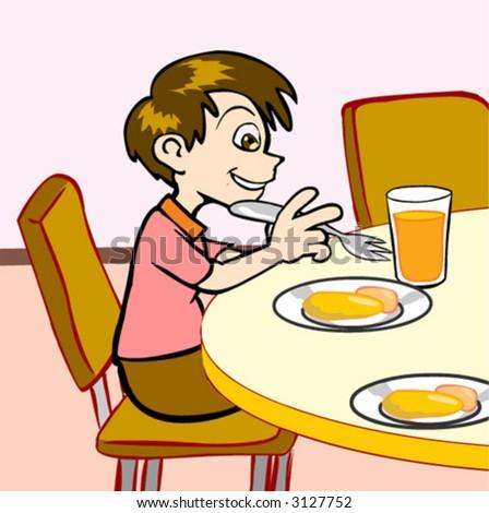 Boy Eat Breakfast Clipart Boy Eating Breakfast Clip ArtEat Breakfast Clip Art