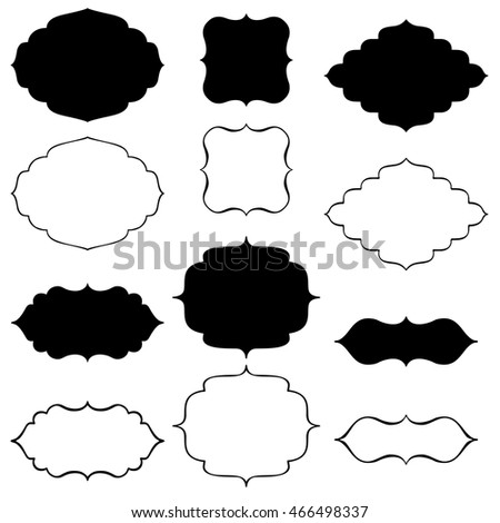 Vintage Black Frame Empty Set Retro Stock Vector 571624039 ...