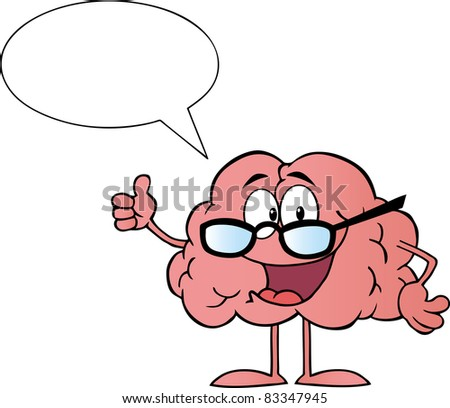 Cartoon Brain Having Brain Fart Vector Stock Vector 151038323 ...