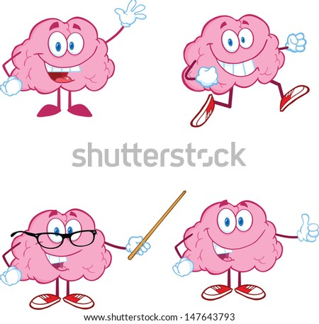 Human Brains Human Brain Cartoon Brain Cartoon Mascot Collection