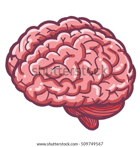 flat style human brain illustration stock vector 605454092