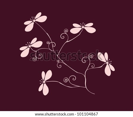 Orchid Branch Silhouette Stock Illustration 61641730 ...