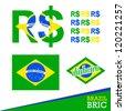 BRIC, Brazil, Russia, India, China - stock photo