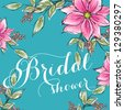 Bridal Shower invitation card - stock vector