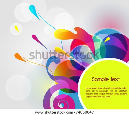 Bright business background with multicolor shapes