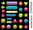 Bright colored, glossy web elements. - stock vector