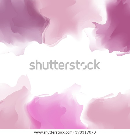 Bright multicolor watercolor background. Marble effect cover, smoke, steam. Colourful template. Watercolor splatters.Vector