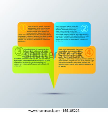Bright vector infographics design