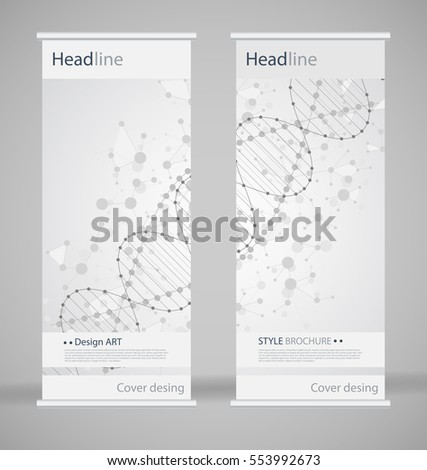 fancy brochure templates - vector set trifold brochure design template stock vector