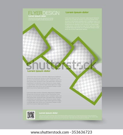 Flyer Template Brochure Design Editable A4 Stock Vector 338354927