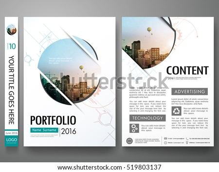 circle brochure template - flyers design template vector business brochure stock