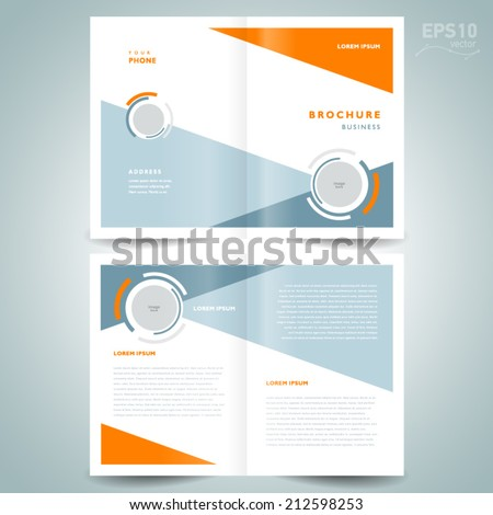 Brochure Design Geometric Abstract Business Brochure Stock Vector