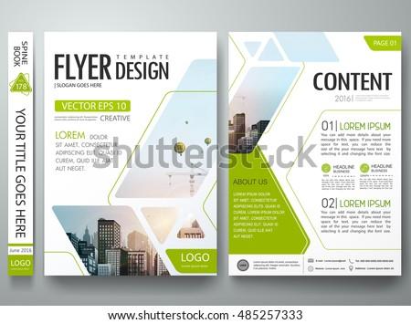 Brochure Design Template Vector Flyers Report Stock Vector - Brochure designs templates