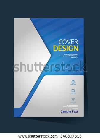 Book Cover Design Vector Template A4 Stock Vector 541608514 ...