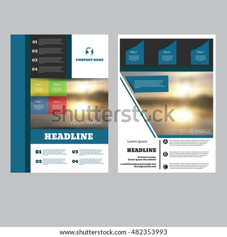 Brochure flyer design template vector leaflet cover presentation abstract  background A4 size eps 10