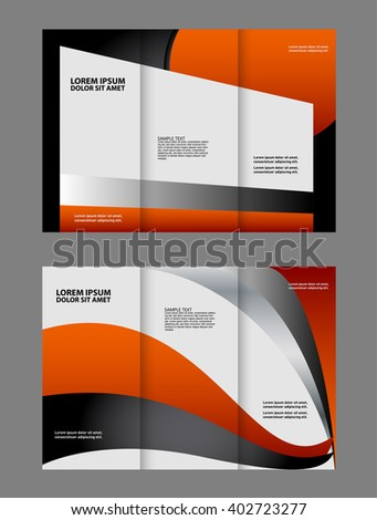 Template Advertising Brochure Stock Vector 402870022 - Shutterstock