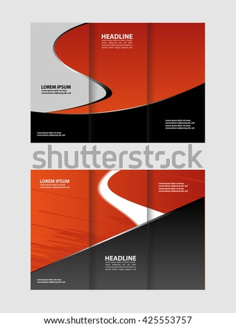Vector Empty Bifold Brochure Print Template Stock Vector 446929288