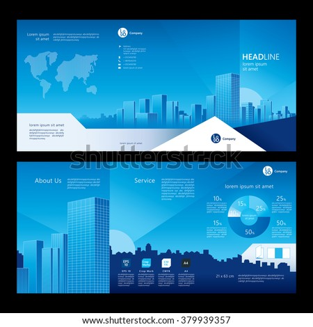 Brochure Template Design Company Profile Concept Stock Vector