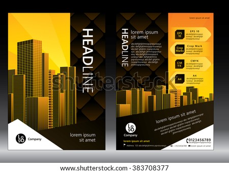 Architecture Design Brochure brochure template design concept architecture design stock vector