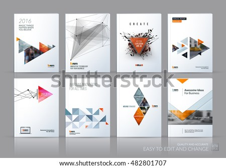 Brochure Template Layout Cover Design Annual Stock Vector ...