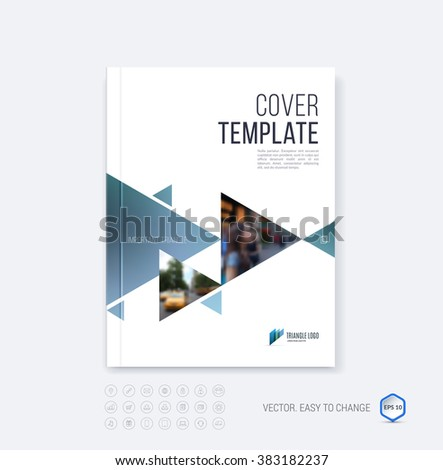 Brochure Template Layout Cover Design Annual Vectores En Stock