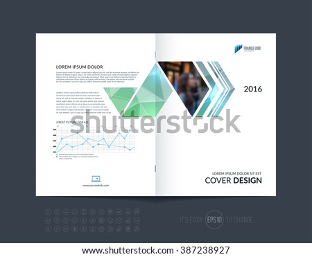 Template Design Layout Brochure Flyer Geometric Vector – Geometric Flyer Template