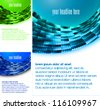 brochure template, layout, cover set - stock vector