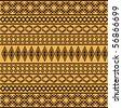 Brown ethnic texture - stock vector