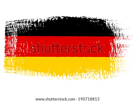 brushstroke flag Germany with transparent background