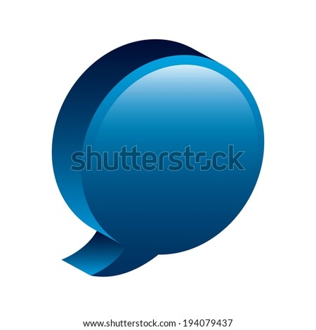 Bubble design over white background, vector illustration