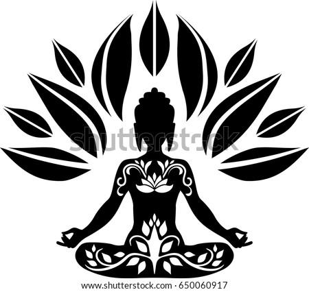 Lotus Flower Yin Yang Symbol