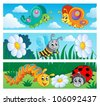 Bugs banners collection 1 - vector illustration. - stock vector