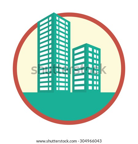 Building digital design, vector illustration 10 eps graphic