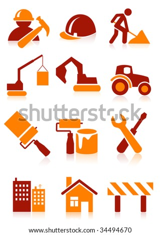 Building icons, vector illustration, EPS file included