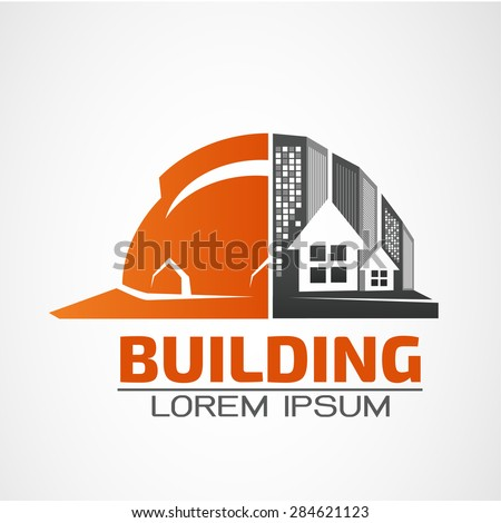 Building logo construction working industry concept stock for Architecture design company