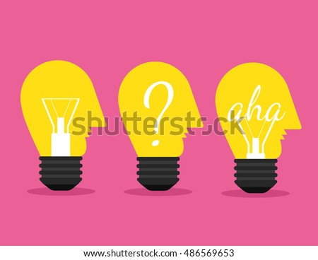 Bulb silhouette ideas Illustration