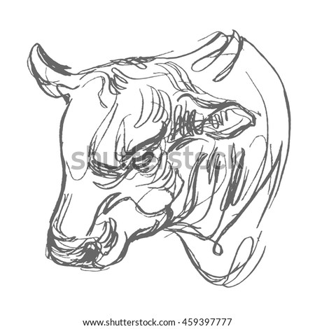 how to draw the bulls logo
