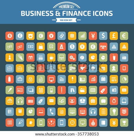 Business and financial icon set,vector