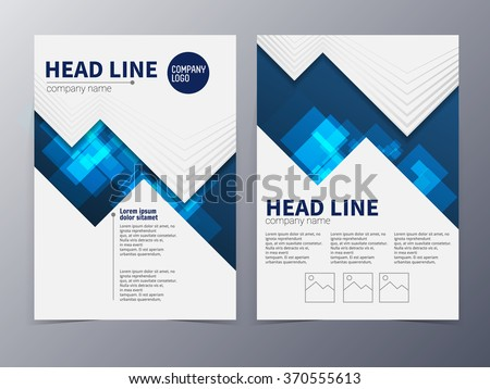Business Technology Brochure Design Template Vector Stock Vector