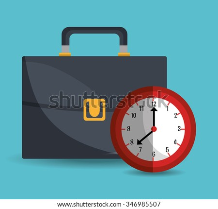 Business and time management  graphic design, vector illustration eps10