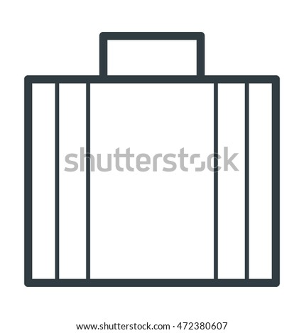 Business Bag Colored Vector Icon