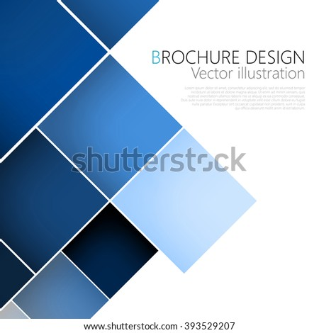 Business brochure cover design template. Vector. Clip-art